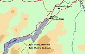 Map of Churches around Ullswater