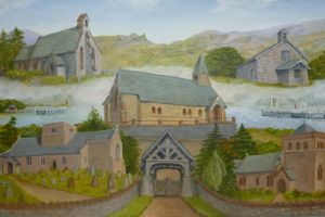 Painting of all 5 churches by S Vind